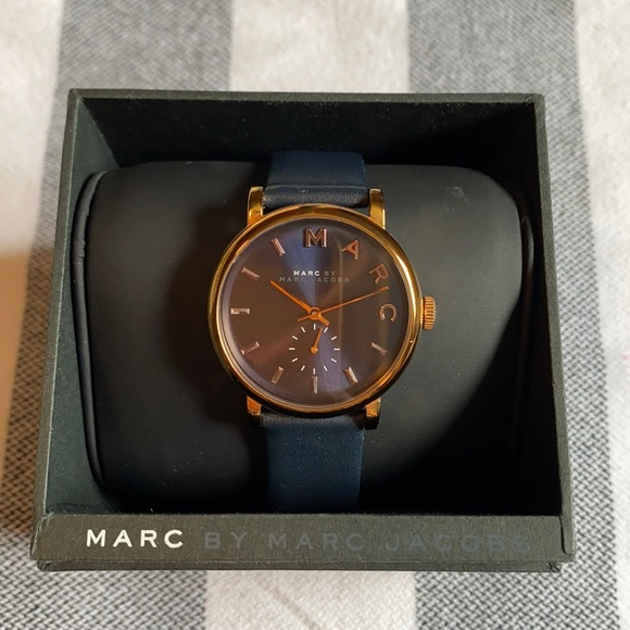 Marc Jacobs Navy & Gold Watch